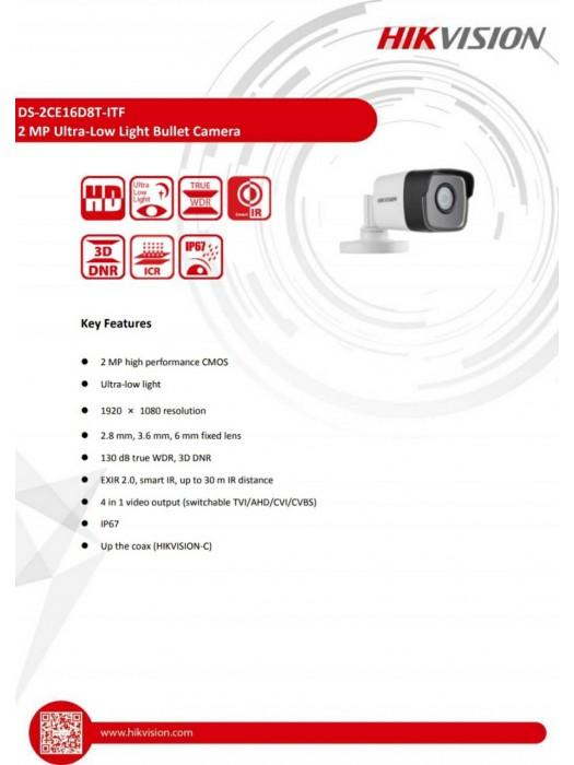 DS-2CE16D8T-ITF 2,8mm